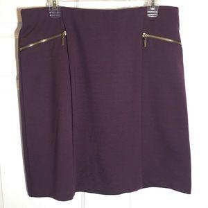 George Golf Zipper Front Trim Skirt Size L